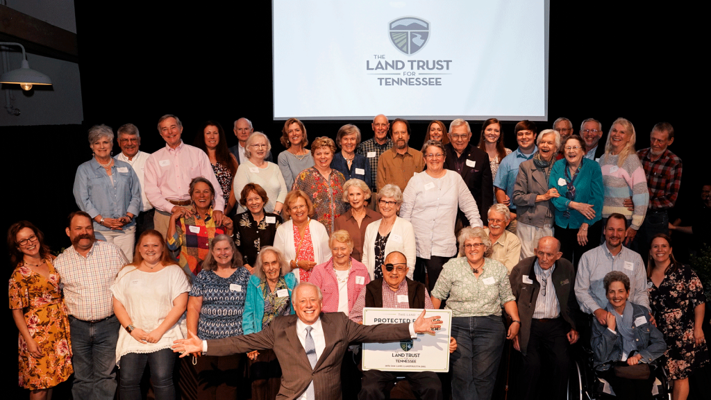 A group of landowners celebrate The Land Trust for Tennessee's 20th Anniversary