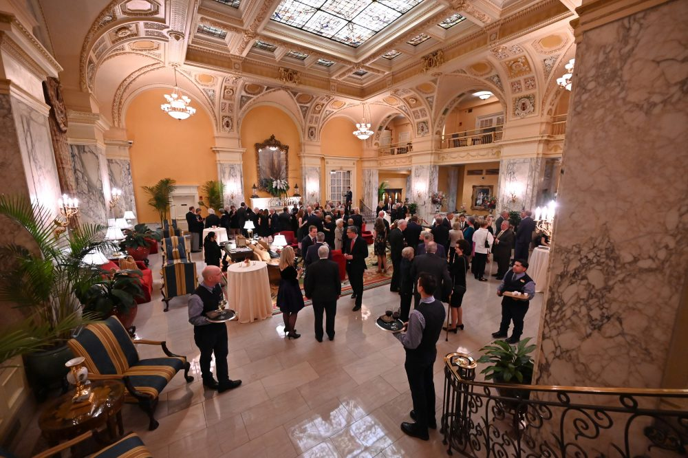 The Grand Lobby at The Hermitage Hotel during the cocktail hour on Monday, November 18, 2019.
